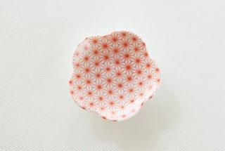 WP156 豆皿/花型(白×赤)・桜ともみじ