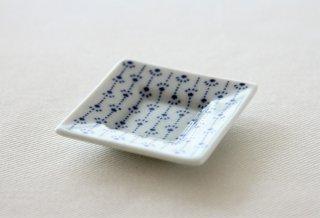 WP165 豆皿/四角(白×青)