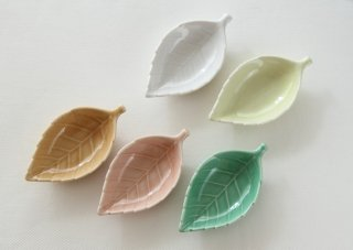 WP168 豆皿/葉(緑)