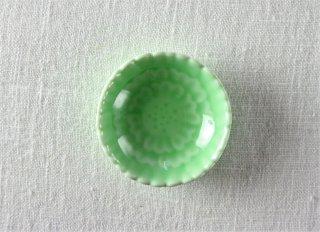 WP877 豆皿/花型(緑)