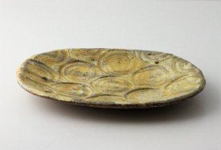 WP899 和皿/楕円(黄)・丹波焼