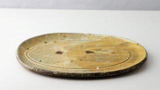 WP900 和皿/楕円(黄)・丹波焼