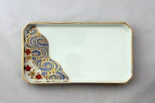 WP915 和皿/八角(白)・桜と波