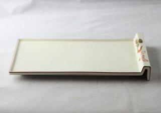 WP937 和皿/四角(淡黄)・松と梅