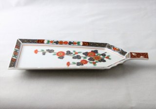 WP939 和皿/羽子板(白)・花柄