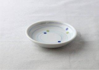 WP947 和皿/丸(白×青×緑)・ドット