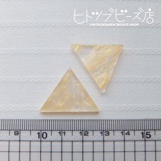 三角形カボション1ペア(2個)セット(クリア×オレンジゴールド)