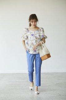 【6月頭配送予定】【予約】カラーパンツ【ブルー】