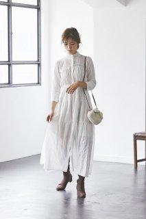 【再入荷】レースティアードドレス(ホワイト)
