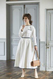 ペイズリージャガードスカート(ホワイト)