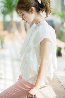 【予約】【7月下旬配送】ラッフルタフタニット(ホワイト)