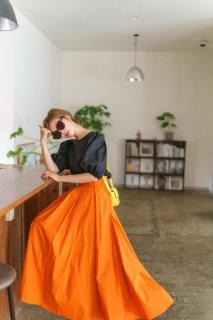 【再入荷】タックスカート(オレンジ)