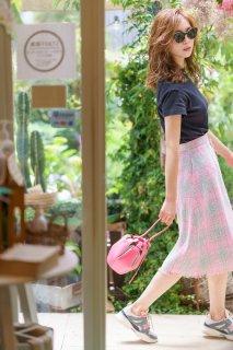 サマーツイードスカート(ピンク)