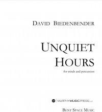 【吹奏楽 楽譜】<br>アンクワイエット・アワーズ <br>作曲:デヴィッド・ビーデンベンダー<br>