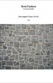 【吹奏楽 楽譜】<br>ボック・ファンファーレ <br>作曲:ジェス・ターナー<br>