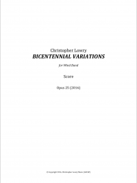 【吹奏楽 楽譜】<br>バイセンテニアル・ヴァリエーションズ <br>作曲:クリストファー・ロウリー<br>