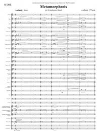 【吹奏楽 楽譜】<br>メタモルフォーシス <br>作曲:アンソニー・オトゥール<br>