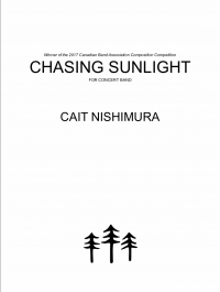 【吹奏楽 楽譜】<br>陽の光を追って <br>作曲:ケイト・ニシムラ<br>