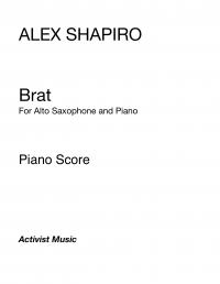 【アルト・サクソフォーン&ピアノ 楽譜】<br>ブラット <br>作曲:アレックス・シャピロ<br>