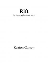 【アルト・サクソフォーン&ピアノ 楽譜】<br>リフト <br>作曲:キートン・ギャレット<br>