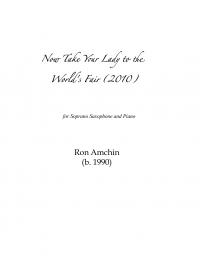 【S.サクソフォーン&ピアノ 楽譜】<br>彼女を世界博覧会に連れ出そう <br>作曲:ロン・アムシン<br>