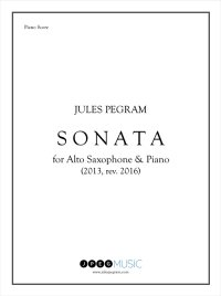 【サクソフォーン 楽譜】<br>アルト・サクソフォーンのためのソナタ <br>作曲:ジュールス・ピグラム<br>