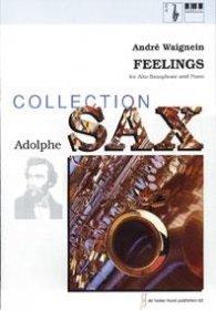 (楽譜) フィーリングス / 作曲:アンドレ・ウェニャン (アルト・サクソフォーン&ピアノ)