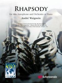 (楽譜) ラプソディ / 作曲:アンドレ・ウェニャン (アルト・サクソフォーン&ピアノ)