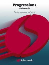 (楽譜) プログレッションズ / 作曲:アラン・クレパン (アルト・サクソフォーン&ピアノ)