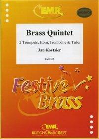 (楽譜) 金管五重奏曲 作品65 / 作曲:ヤン・クーツィール (金管5重奏)
