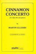 (楽譜) シナモン・コンチェルト / 作曲:マーティン・エレビー (アルト・サクソフォーン&ピアノ)(スコア+パート譜セット)
