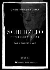 【吹奏楽 楽譜 スコアのみ】<br>グスターヴ・ホルストに基づくスケルツィット <br>作曲:C.ロウリー