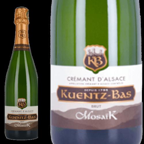 クレマン・ダルザス ブリュット モザイク クンツ・バー  Kuentz-Bas Cremant d'Alsace Brut Mosaik