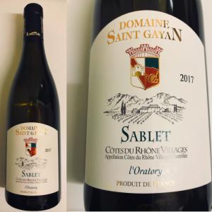 コート・デュ・ローヌ・ヴィラージュ サブレ ロラトリー 白 2017 Saint Gayan Cotes du Rhone Village Sablet l'Oratory 2017