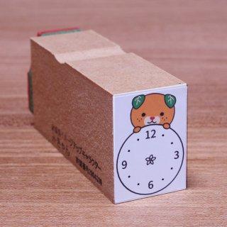 時計みきゃん(みきゃんゴム印 大)