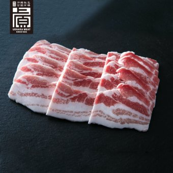 県産ブランド豚あぐー バラ焼肉セット(500g)