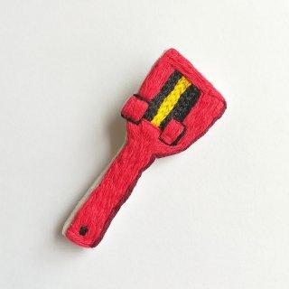 よさこい鳴子の刺繍ブローチ