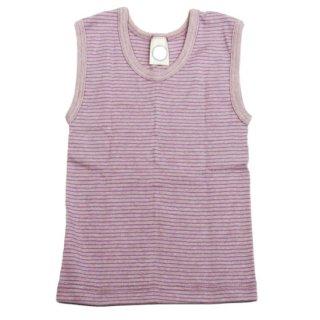 【ネコポス便可】Cosilana キッズタンクトップアンダーシャツ パープルピンクストライプ