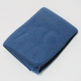 オーガニックウール フリースブランケット ベビー / 青 ブルー / 80×100cm / Engel