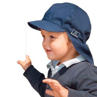 【ネコポス便可】Pickapooh ベビー&キッズ UVカット 日よけ帽子 オーガニックコットン Felix UPF80 ネイビー サイズ48〜60