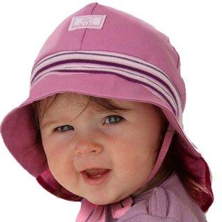 【ネコポス便可】オーガニックコットン 日よけ帽子 ベビー キッズ UVカット / ストレッチファイヤーマン / UPF20 ピンク / サイズ48〜58 / Pickapooh