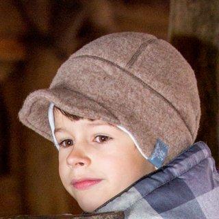 【ネコポス便可】Pickapooh ベビー&キッズ 帽子 オーガニックウールフリース&オーガニックコットン Oskar カプチーノブラウン サイズ50〜60