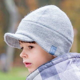 【ネコポス便可】Pickapooh ベビー&キッズ 帽子 オーガニックウール&オーガニックコットン Oskar グレー サイズ50〜60