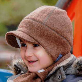 【ネコポス便可】Pickapooh ベビー&キッズ 帽子 オーガニックウール&オーガニックコットン Oskar ブラウン サイズ50〜60