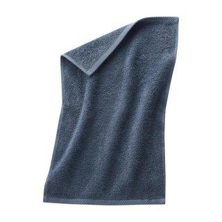 【ネコポス便可】 オーガニックコットン ゲストタオル 30×50cm / ブルー / Living Crafts