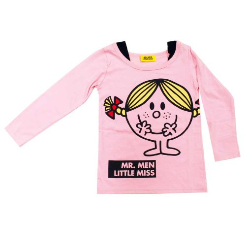 【生産終了品】ミスターメンリトルミス 長袖フェイクTシャツ(ピンク)110 543MR4331