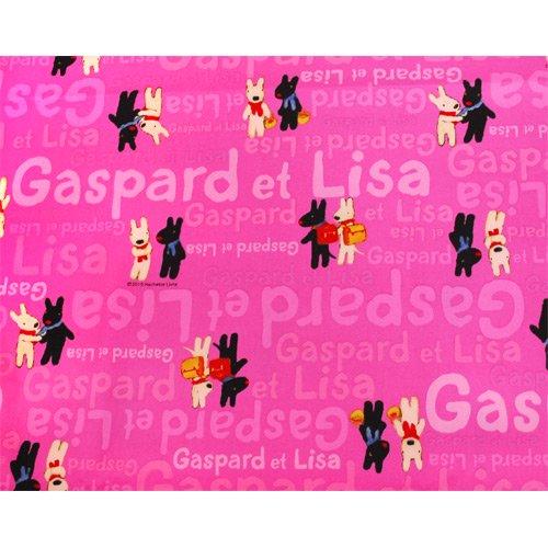 リサとガスパール オックス生地(であい)ピンク G30103-1-B