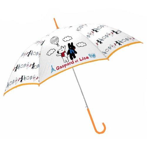 リサとガスパール 60cmビニール傘(気球で世界旅行)-406B