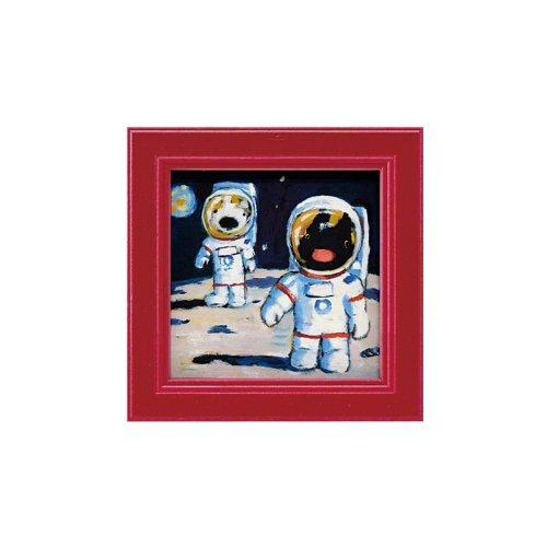 リサとガスパール ミニアートフレーム「月面歩行」 GL-00666