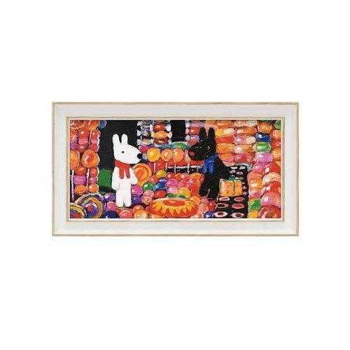 リサとガスパール ミュージアムフレーム(キャンディーハウス)Sワイド GL-03552